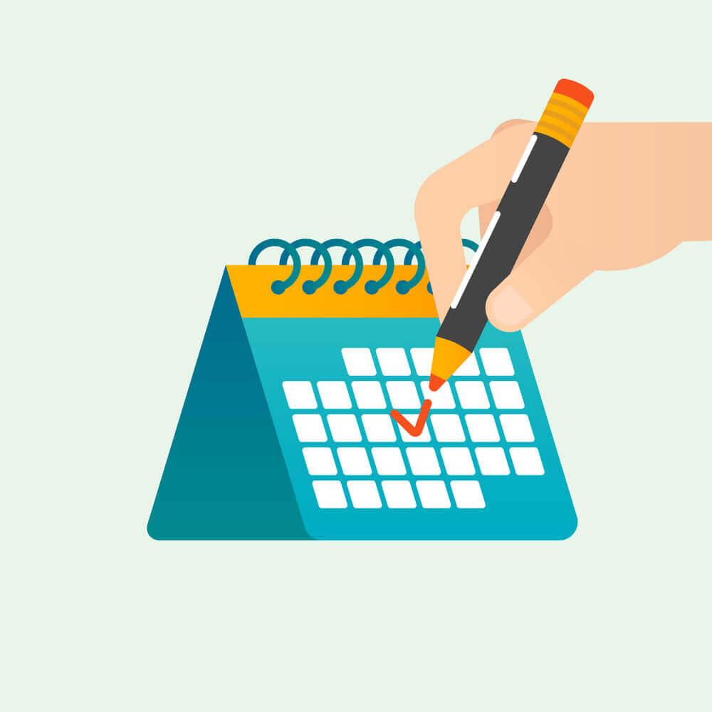 Calendário de conteúdo para blog